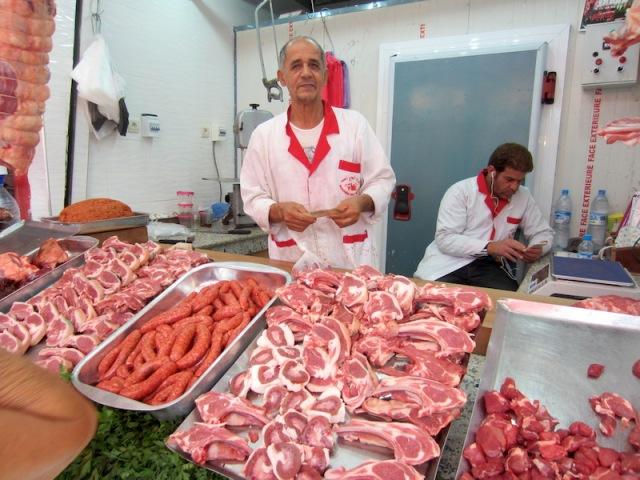 The 'best' meat seller in Casablanca.