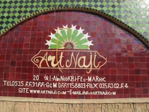 The Art Naji Pottery entrance.
