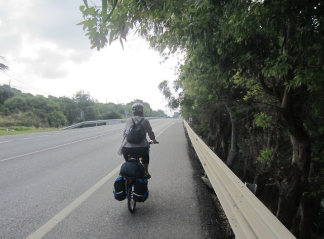 Bev on the Cadiz road on the way to Tarifa.