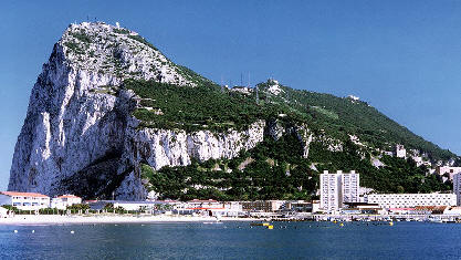 The Rock of Gibraltar as we didn't see it. Image credit: From www.historic-uk.com Author unknown.