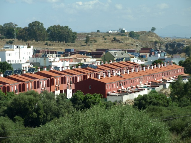 The urban sprawl between Tarifa and Algeciras. A modern day version of the Victorian/Edwardian worker houses of England.