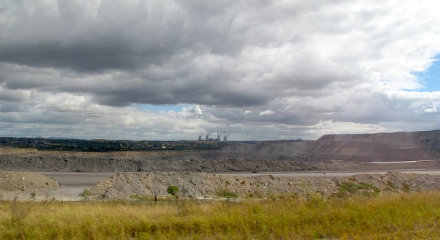 Open cut coal mine in the Hunter Valley NSW. This photograph was taken on Day One of Encountering the Past Part 3 as we travelled by train to Sydney.