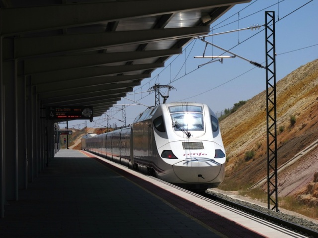 An AVE high speed train. This train was not driverless but I bet in the future it will be. In 2013 computer-automated trains operated on 6% of the world's total rail-transit lines.