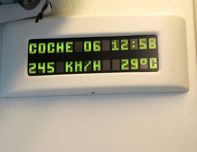 At 12.58 car 6 was travelling at 245 km/ph (it did reach 248km at one stage) and it was 29 degrees outside.