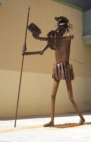 Don Quixote in steel. Sancho was nowhere to be seen so I assume this was before the Don met with him.