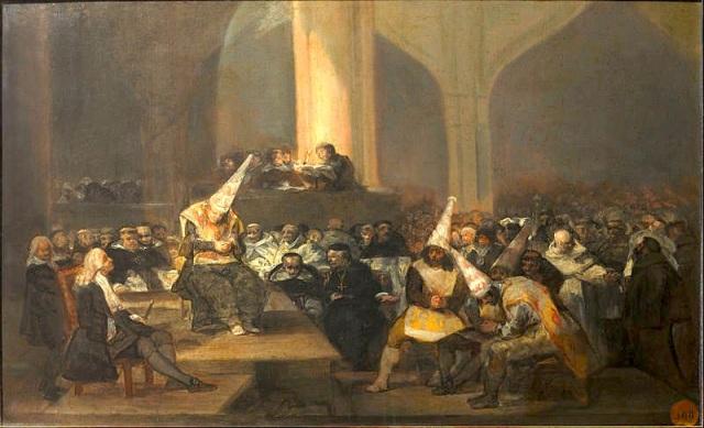 35 Goya painting Spanish Inquisition