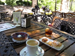 After a long ride sustenance was what was required. Terraza del Jucar Café.