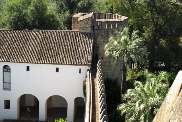 One of the many fortified towers in the Alcazar wall.