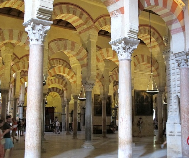 Islamic architecture and columns of jasper, onyx, marble and granite.