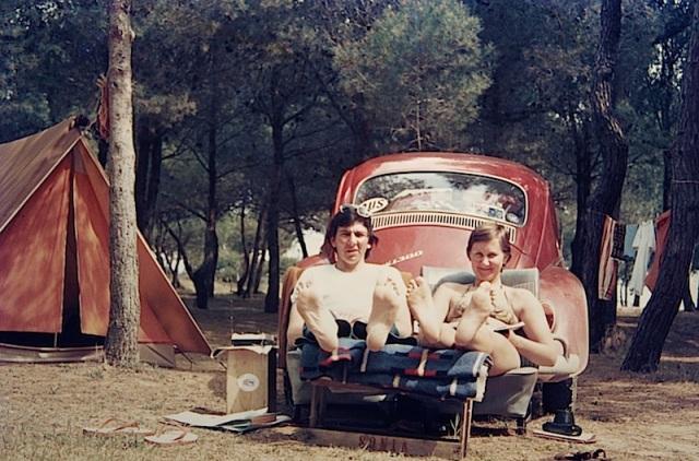 Our Torre de la Pena Camping spot in 1973.