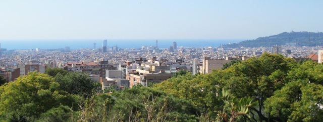 Barcelona from Parc Guell.
