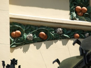 Valencia oranges and even orange blossom decorate the outside of the station.