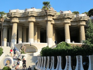 The steps leading up to the Doric Temple.
