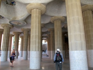 Fluted Doric order columns of the temple.