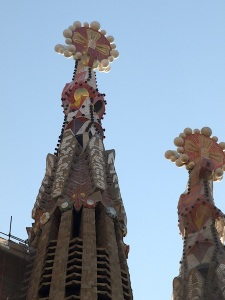 The unseen detail on high of the Sagrada Familia church.