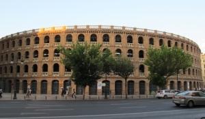 The bullfighting arena, Plaza de Toros de Valencia, was built in 1841 and holds 10,500 spectators.