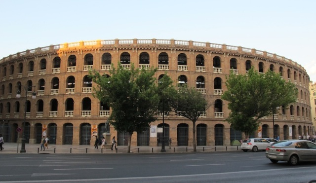 The bullfighting arena, Plaza de Toros de Valencia, was built in 1841 and holds 10,500 spectators.