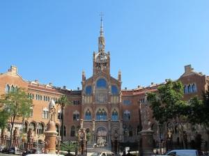 The hospital de La Santa Creu i Sant Pau. Architect Antoni Gaudi died here in 1926 after the trolley bus incident.