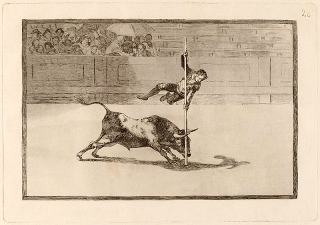 An etching of an acrobat with agility and audacity by Francisco Goya 1816. Image credit: image is copyright free.