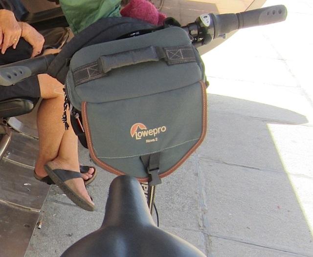 The stolen camera bag.