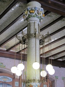 This column in the main hall of the station has the look of Art Nouveau.