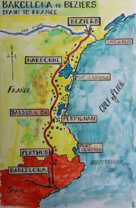 2 map Barcelona to Beziers