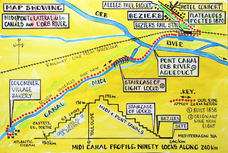 8 map Beziers and surrounds Fred and Bevs Odyssey