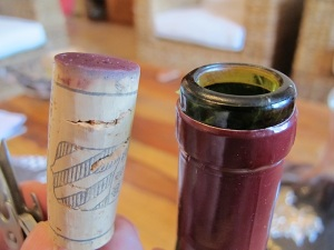 The cork from the 17 year old wine.