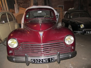A stylish Peugeot 203. The 203 was manufactured between 1948 and 1960 and was the first post WW2 car manufactured by Peugeot.