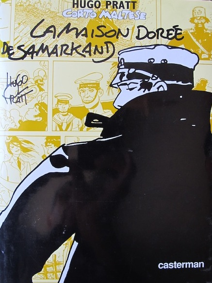 The cover of Pratt's remarkable book featuring Corto Maltese, the main character.