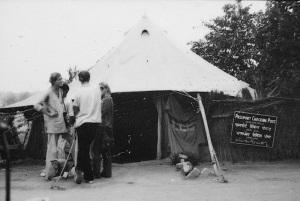 Hussainiwala passport checking post on the Indian Pakistan border in 1970.