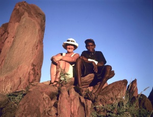 Bev and Malcolm in big sky country near Yuendumu.