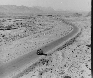 On the road between Mashad and Tehran in Iran.  The Americans built this road.