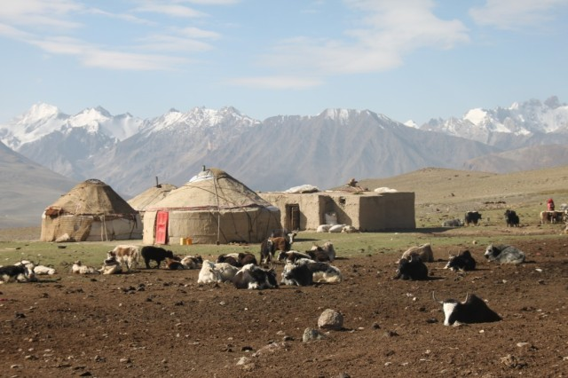 Nomad tents in the Wakhan Corridor. Image credit: Untamed Borders Adventure Travel.