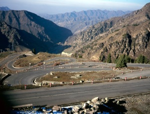 A pass though the Shan Mountains, also called the Heavenly Mountains, near Turpan west China.