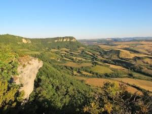 The countryside around Tournemire.
