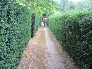 A much cared for path in the village of Ouyre.