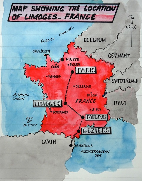 1 map Limoges