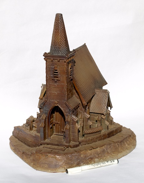One of our larger creations, an English gothic church.