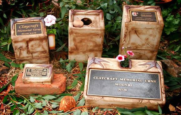 Memorial Urns and markers.