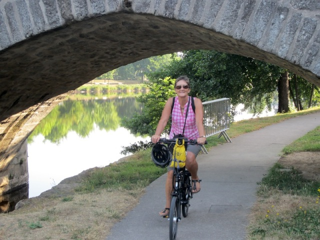 Bike path along La Vienne River.