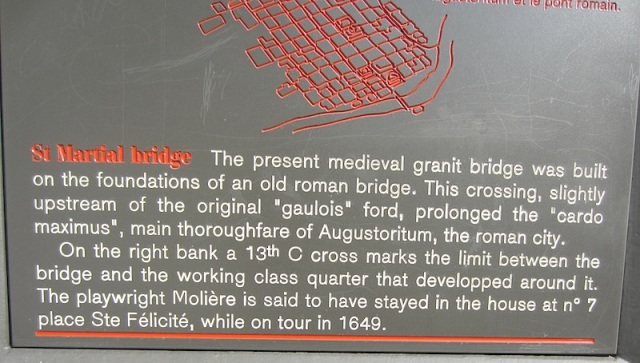 Plaque near the bridge.
