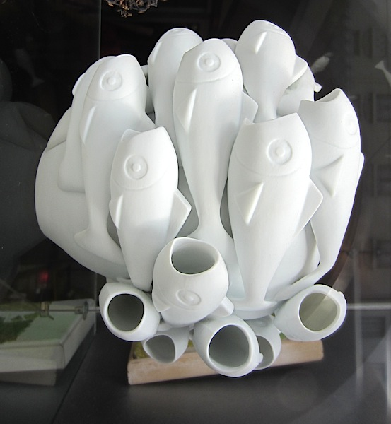 Creative fish vase.