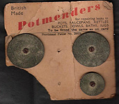 Commercially available pot mender kit. Image credit: A1scrapmetal blog spot.