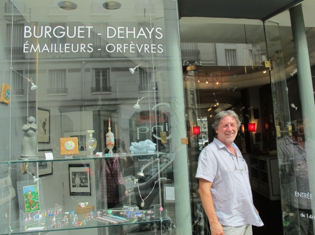 Jean-Francois outside his gallery,