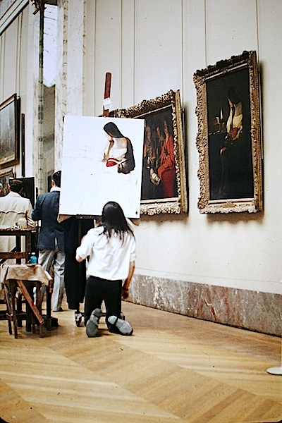A photograph I took in the Louvre in 1973.