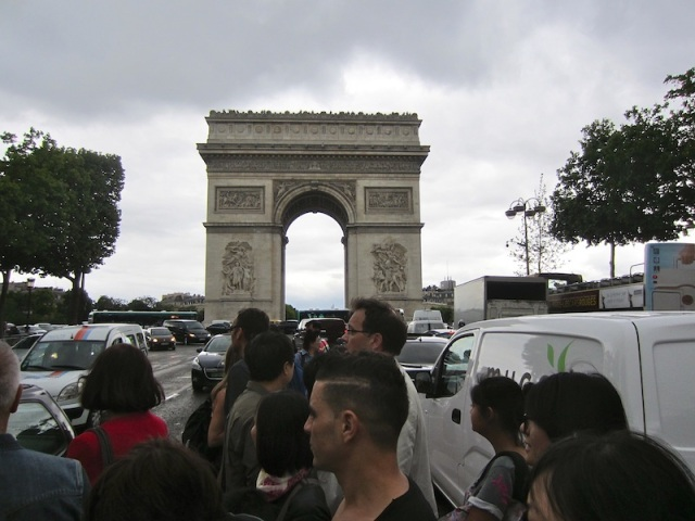 The Champs Elysees and the Arc de Triomphe today.