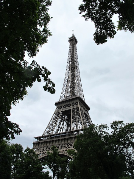 And here it is, the Eiffel Tower.