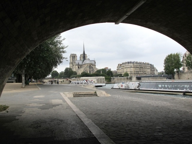 View from under a Paris bridge.