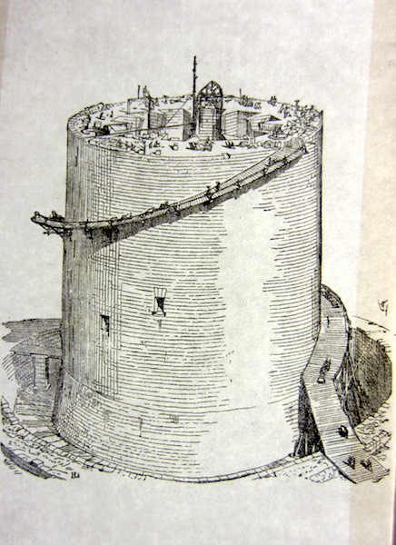 Artist's impression showing the construction of the Great Tower.